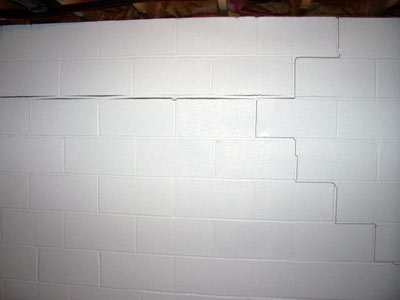 crack in house wall brick