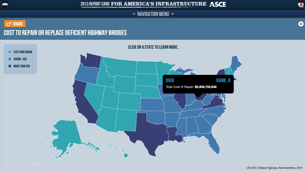 2013 infrastructure report map